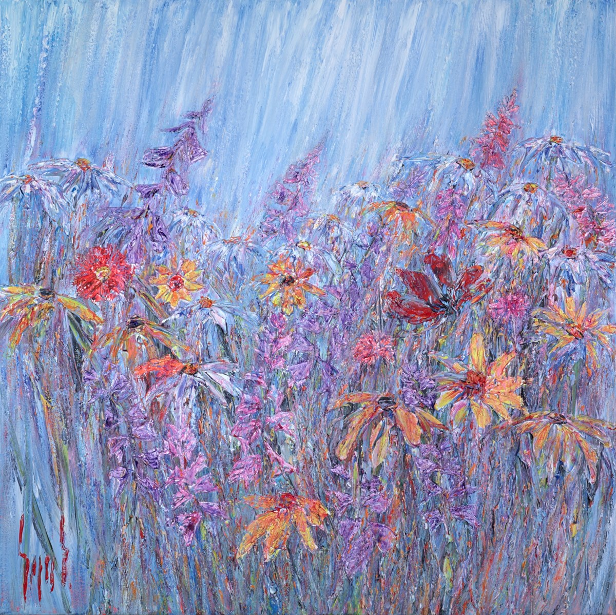Flower Glow II by carl scanes -  sized 39x39 inches. Available from Whitewall Galleries